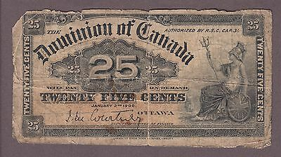 1900  25 Cents Shinplaster - Courtney - Dominion of Canada - B943