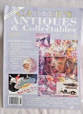 CARTER'S Antiques & Collectibles Magazine*April 1996 Issue* Australia's Top MAG