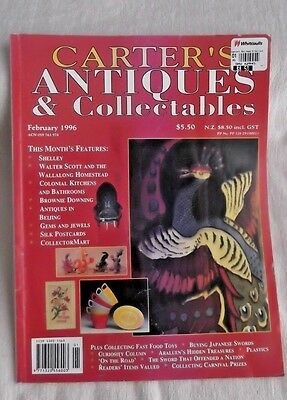 CARTER'S Antiques & Collectibles Magazine*FEB 1996 Issue* Australia's Top MAG