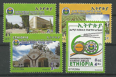 Ethiopia Complete Set of 4 MNH 2016 Haramaya University