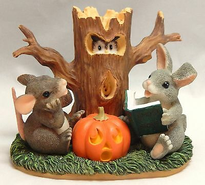 Charming Tails Fitz and Floyd Halloween GHOST STORIES Figurine #85/703 IOB