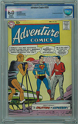 Adventure #255 Cbcs 6.0 Seldom Seen Or Sold Cream/off-White Pages 1958