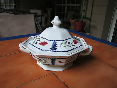 Adams, England LANCASTER Round Covered Vegetable Dish Great GIFT !!!