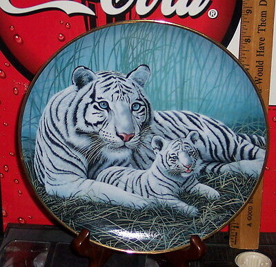 National Wildlife Federation White Tiger's Limited Edition Collector's Plate