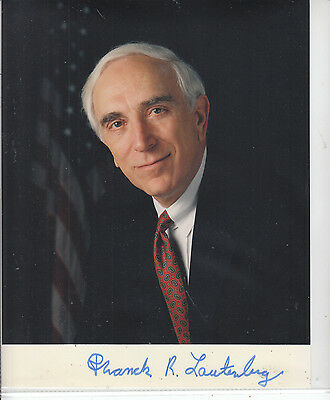 PATRICK LAUTENBERG SIGNED New Jersey Senator Photo