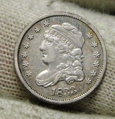 1833 Capped Bust Half Dime 5C Cents - Nice Coin, Free Shipping (6450)