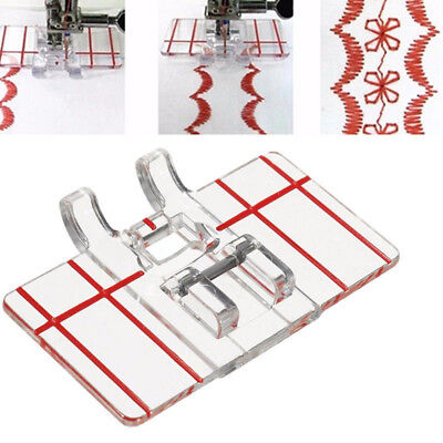 1pc Clear Parallel Stitch Foot Presser For Domestic House Sewing Machine NEW