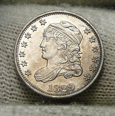 1829 Capped Bust Half Dime H10C 5 Cents - Nice Old Coin, Free Shipping  (6475)