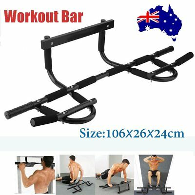 Portable Chin Up Workout Bar Home Door Pull Up Abs Exercise chinup Fitness TX