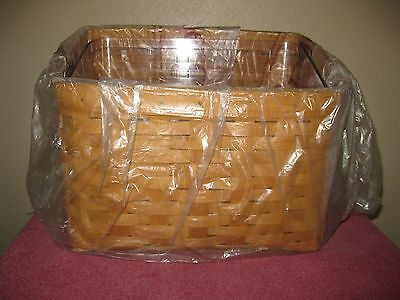 Longaberger Media Basket With The Very Heavy Plastic Protector