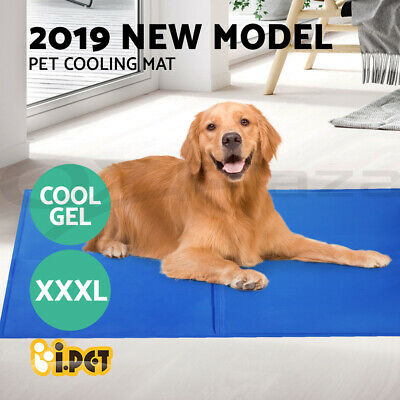 Pet Cooling Bed Gel Mat Dog Cat Non-Toxic Cool Water Pad Puppy Cold Summer 96x81