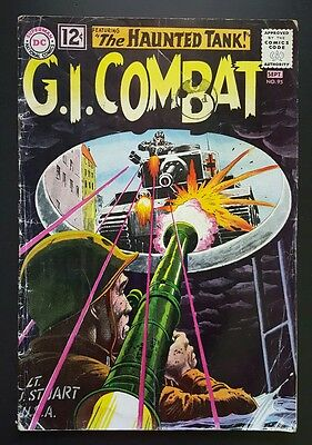 G.I. Combat #95 - feat.  the  Haunted Tank - (Aug-Sep 1962, DC) - GD