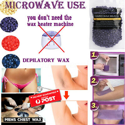 Pearl Hard Wax Brazilian Granules Hot Film Wax Bead Hair Removal Purple Wax Kit