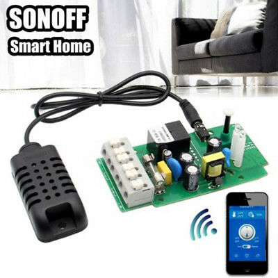 Sonoff Uinversal Smart WiFi Temperature Humidity Thermostat Remote Control Key