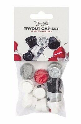 10x MIXED SPRAY PAINT CAPS - THE MONTANA TRYOUT SET