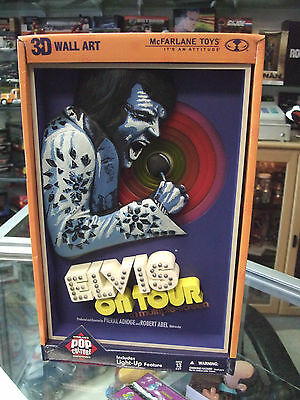 ELVIS PRESLEY on Tour  3D Replica Movie Poster by McFarlane Toys New MIB