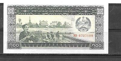 LAOS LAO #30a 1979 UNC MINT OLD 100 KIP BANKNOTE BILL PAPER MONEY CURRENCY
