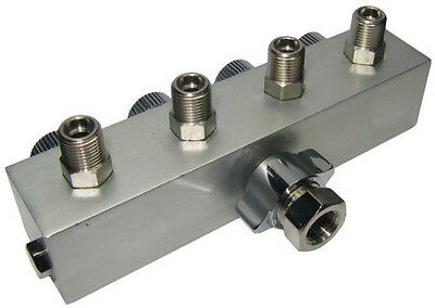 "Rdgtools 4 Way Air Hose Splitter / Manifold For Air Compressors 1/8"" Bsp"