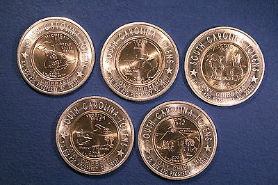 Group of 5 Encased state quarters dated 2004 - TX, FL, MI, IA, WI