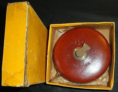 Old Leather TAPE MEASURE  TREBLE Brand    Made in England