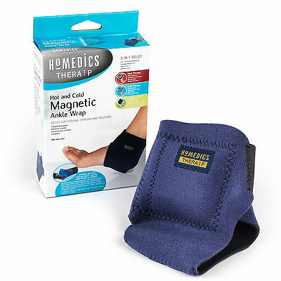 HoMedics 3 in 1 Relief Treatment Hot and Cold Therapy Ankle Wrap with 8 Magnets