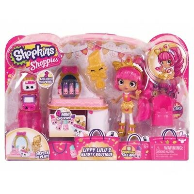 Shopkins Shoppies Lippy Lulu's Beauty Boutique Playset - Brand New!