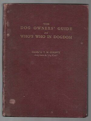 Dog Owner's Guide Who's Who In Dogdom Vintage Illustrated Breed Book c.1937