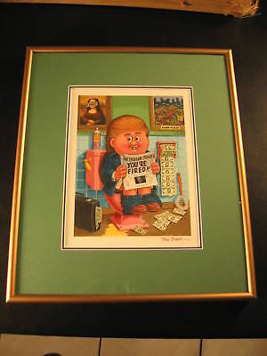 2004 Garbage Pail Kids 1/1 Original Art - President Donald Trump +Tom Bunk COA