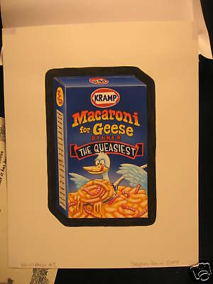 2004 Topps Wacky Packages Sticker Art Macaroni