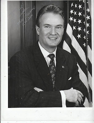 JOHN BREAUX(Lousiana Senator) SIGNED Photo & SIGNED 2001 Senate letter