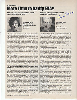 SAM ERVIN SIGNED 1978 magazine page
