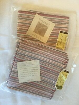 Longaberger Market Stripe Napkins Set of 4