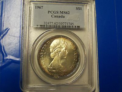 1967 Canada Silver Dollar PCGS MS62    **VERY NICE TONED COIN**