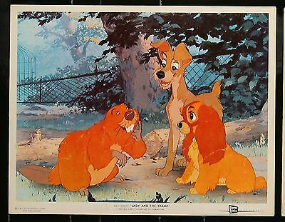 Vintage THE LADY AND THE TRAMP Original 11 x 14 MOVIE LOBBY CARD