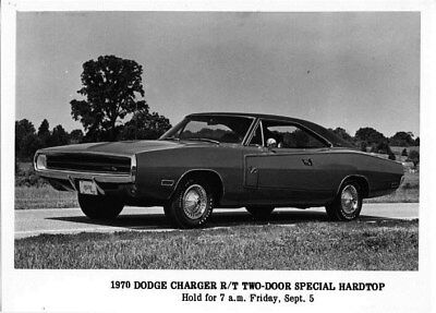 1970 Dodge Canada Charger R/T Two Door Hardtop ORIGINAL Factory Photo oub6403