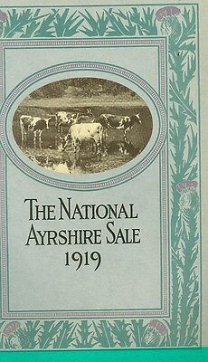 1919 National Ayrshire Sale Catalog Eastern States Exposition