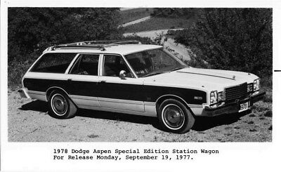 1978 Dodge Canada Aspen Special Edition Wagon ORIGINAL Factory Photo oub6434