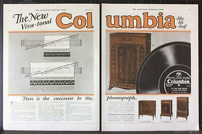 1927 Vivi-Tonal Columbia Model 810 710 611 650 Records Phonograph Print Ad