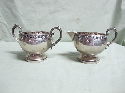 Vintage Fisher Sterling Weighted Cream and Sugar 226 Grams