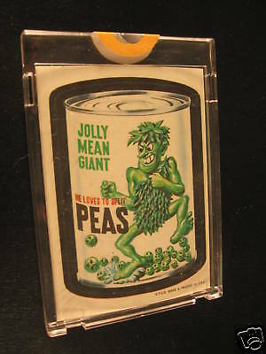 1967 Topps Wacky Packages Die Cut Jolly Mean Giant
