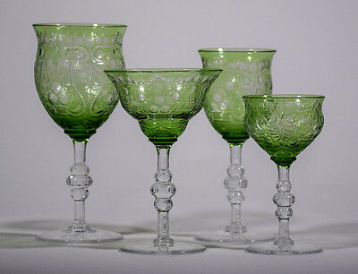 4 Piece Set of Webb Rock Crystal Glasses