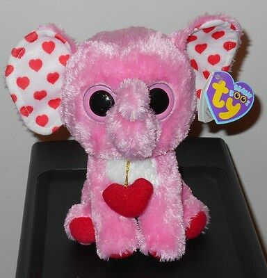 """CT* Ty Beanie Boos ~ TENDER the 6"""" Pink Elephant ~ NEW with CREASED TAG"""