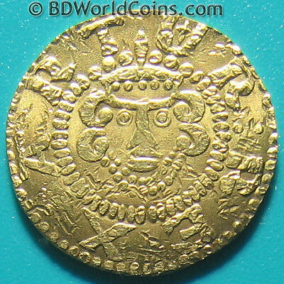 GREAT BRITAIN GOLD 1 PENNY KING ARTHUR CAMELOT FANTASY COINAGE 1.6gr 16.3mm RARE