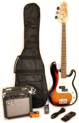 SX Ursa 1 JR RN 3TS Bass Guitar Package W/Free AMP Carry Bag and Instruction DVD