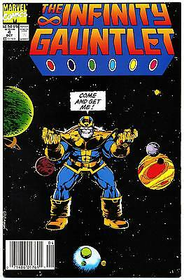INFINITY GAUNTLET #4 NM, Thanos, George Perez a, Newsstand c. Marvel Comics 1991