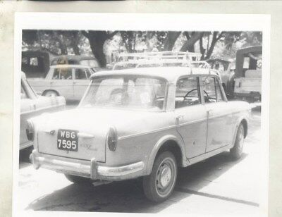 1963 ? Fiat 1100D in India ORIGINAL Factory Photograph wy3455