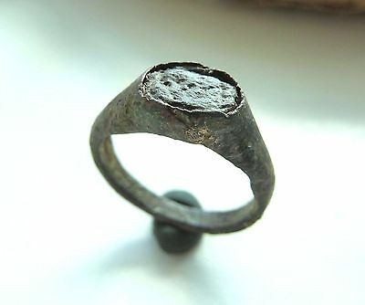 Medieval bronze ring with glass insert (232).