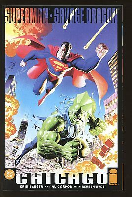 SUPERMAN SAVAGE DRAGON CHICAGO NEAR MINT 2002 LARSEN GORDON RUDE  bin-2017-0340