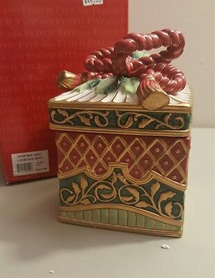Fitz & Floyd Classics CHRISTMAS COURT Lidded Square Box Candy Dish NIB