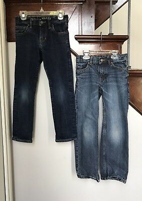 *Gap/Lands' End* Boys 2 Pair LOT of Straight Fit Jeans- Size 7